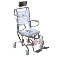 Adjustable Height Mobile Shower Commode. Click for more information...