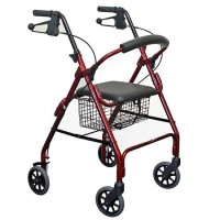 4 Wheel Walker with Curved Backrest. Click for more information...