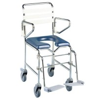 Folding Attendent Mobile Commode / Shower Chair. Click for more information...