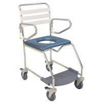 Weight Bearing Footrest Mobile Shower Commode. Click for more information...