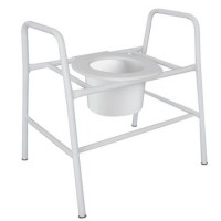 Bariatric Over Toilet Frame Fixed 550mm. Click for more information...