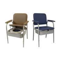 Deluxe Bedside Commode - Hinged Seat 550mm wide. Click for more information...
